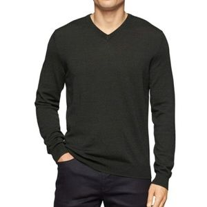 Calvin Klein Black Merino Wool Sweater Size Medium